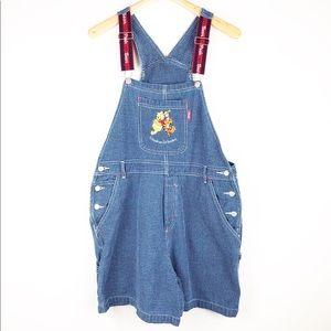 Vintage Disney Pooh Bear Jean Overalls XL